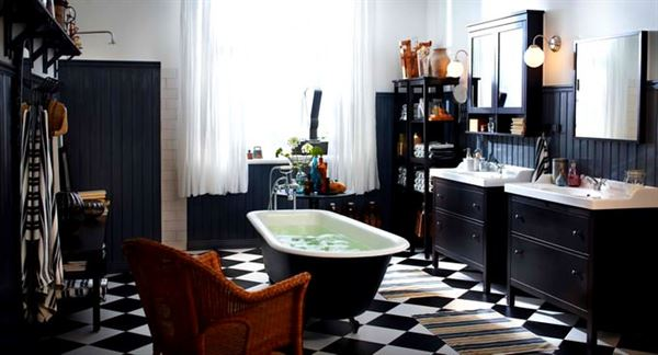 İkea mobilya katoloğu - ikea siyah banyo dekorasyon - İkea Mobilya Katoloğu