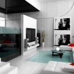 modern lüks salon dekorasyon