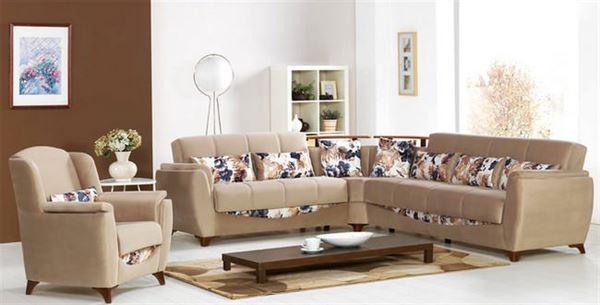 İpek mobilya renkli köşe koltuk modelleri - ipek mobilya flower sutlu kahve yastikli kose koltuk - İpek Mobilya Renkli Köşe Koltuk Modelleri