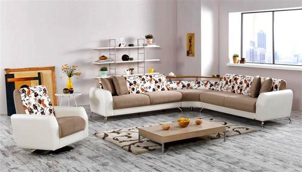 İpek mobilya renkli köşe koltuk modelleri - ipek mobilya milas beyaz kahve kose koltuk - İpek Mobilya Renkli Köşe Koltuk Modelleri