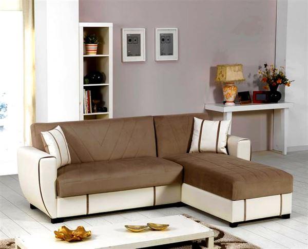 İpek mobilya renkli köşe koltuk modelleri - ipek mobilya sutlu kahve beyaz deri kose koltuk - İpek Mobilya Renkli Köşe Koltuk Modelleri