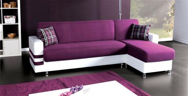 İpek mobilya renkli köşe koltuk modelleri - ipek mobilya valeria lila beyaz kose koltuk - İpek Mobilya Renkli Köşe Koltuk Modelleri