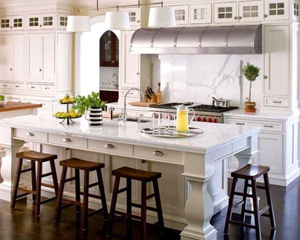 beyaz ada mutfak tasarımları