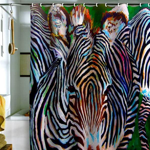 Canlı Renk Ve Desenlere Sahip Duş Perdeleri 8