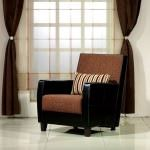 berjer koltuk - kahve derili berjer 150x150 - Modern Tekli Berjer Koltuk Modelleri