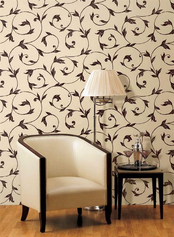 yaprak desenli duvar kağıt