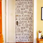 duvar kağıdı ile kapılarınızı kaplayın