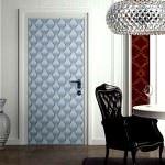 duvar kağıdı ile kapılarınızı kaplayın duvar kağıdıyla İç kapı süslemeleri