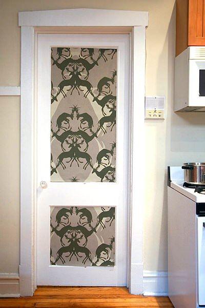 Duvar Kağıdıyla İç Kapı Süslemeleri 5