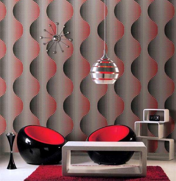 modern duvar kağıt karisik desenli duvar kagit