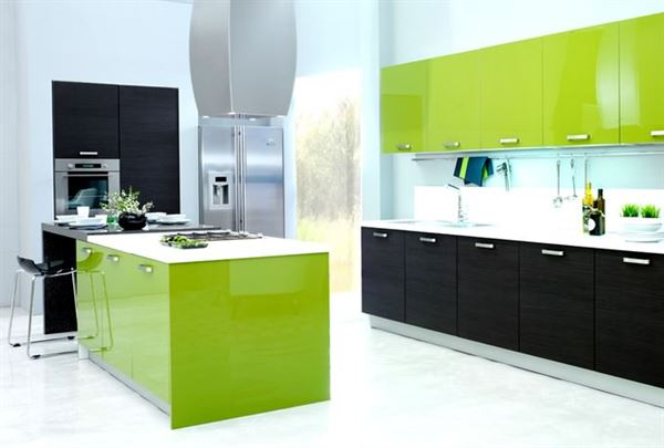 yeşil mutfak tasarımları