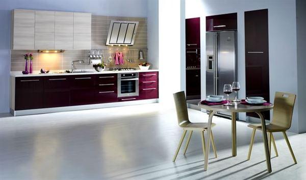 bordo mutfak dekorasyon