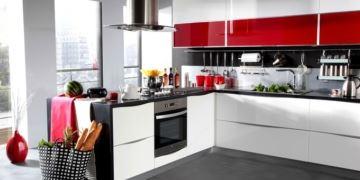 kelebek beyaz kırmızı mutfak