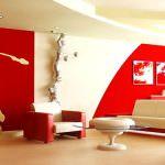 Kırmızı ile oda dekorasyon stilleri 6