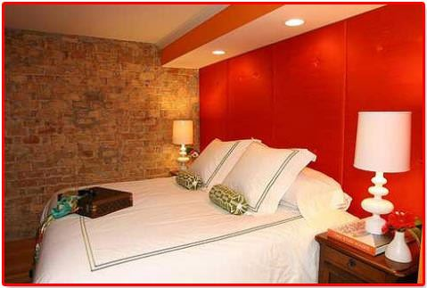 Kırmızı ile oda dekorasyon stilleri 7