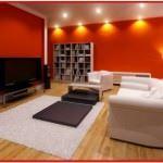 Kırmızı ile oda dekorasyon stilleri 1