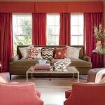Kırmızı ile oda dekorasyon stilleri 3