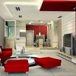 Kırmızı ile oda dekorasyon stilleri 4