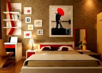 kirmizi-kahve-yatak-odasi-dekorasyonu