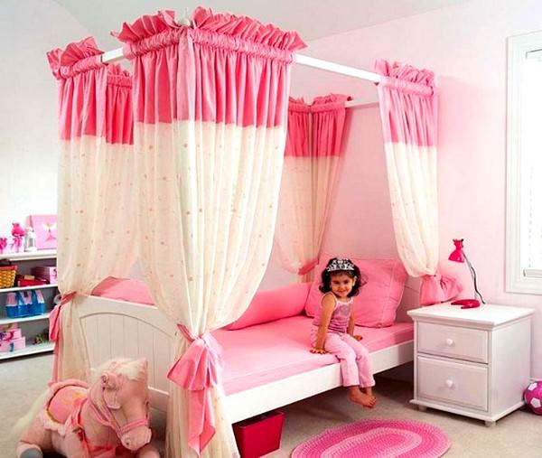Pembe Renkli Kız Çocuk Odası Modelleri 6