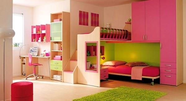 Pembe Renkli Kız Çocuk Odası Modelleri 15