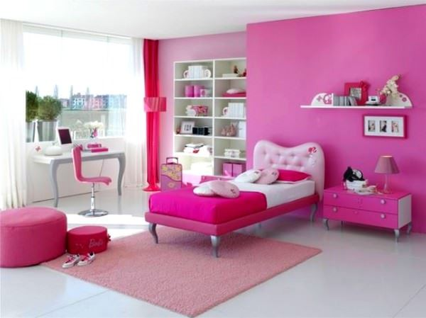 Pembe Renkli Kız Çocuk Odası Modelleri 7
