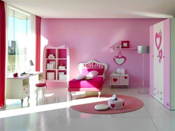Pembe Renkli Kız Çocuk Odası Modelleri 9