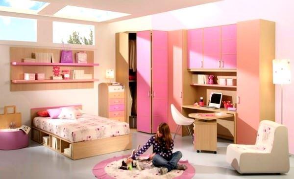 Pembe Renkli Kız Çocuk Odası Modelleri 10