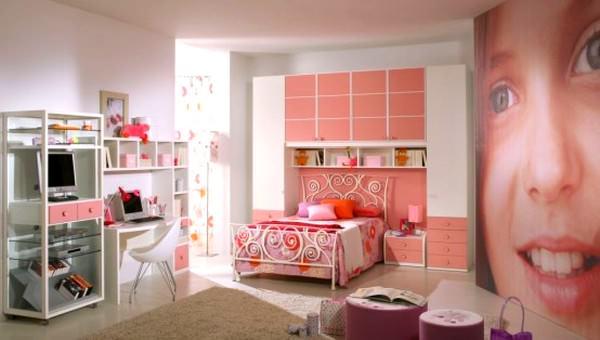 Pembe Renkli Kız Çocuk Odası Modelleri 11