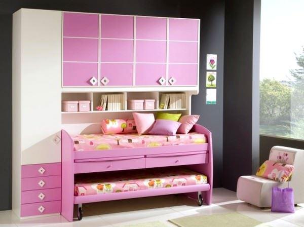 Pembe Renkli Kız Çocuk Odası Modelleri 12