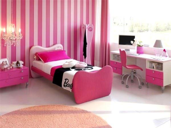 Pembe Renkli Kız Çocuk Odası Modelleri 13