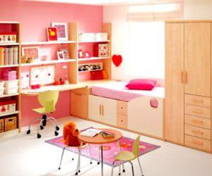 Pembe Renkli Kız Çocuk Odası Modelleri