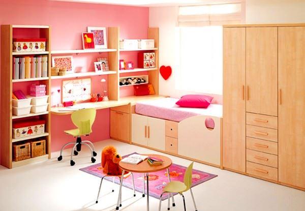 Pembe Renkli Kız Çocuk Odası Modelleri 23