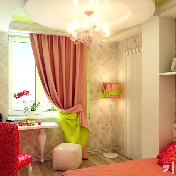 Kız Çocuk Odası Perde Fikirleri 4