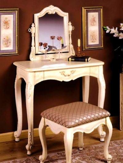 retro krem makyaj masası