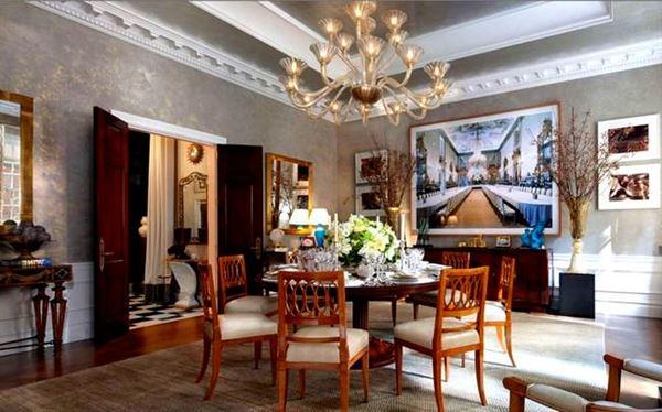 Klasik Yemek Odası Tasarımı 4