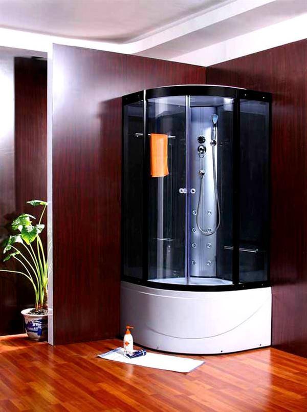 buharlı modern duşa kabin modelleri - kose monteli oval dusa kabin - Buharlı Modern Duşa Kabin Modelleri
