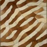 modern Şık deri halı modelleri - krem kahve deri hali1 150x150