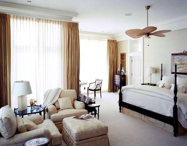 oturma odası modern perde