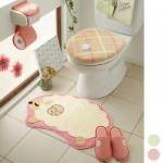 Şirin banyo paspas takımları - krem renk banyo hali takimi1 150x150 - Şirin Banyo Paspas Takımları