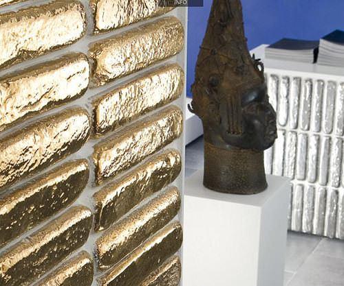 Külçe Altın Şeklinde Duvar Dekorasyon Malzemesi 7