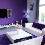oturma odası dekorasyon fikirleri - lila beyaz kombineli oturma odasi 150x150 - Oturma Odası Dekorasyon Fikirleri