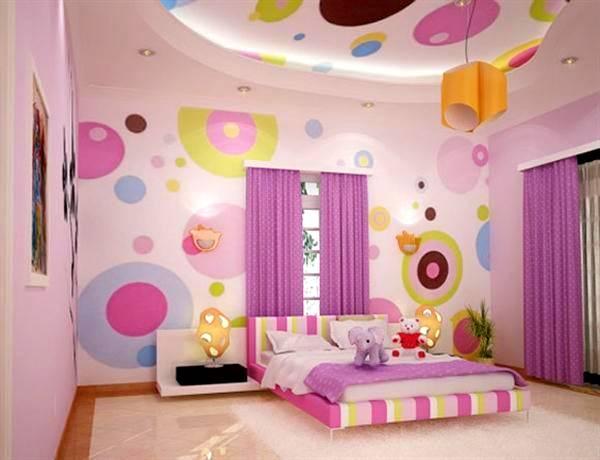 Kız Çocuk Odası Perde Fikirleri