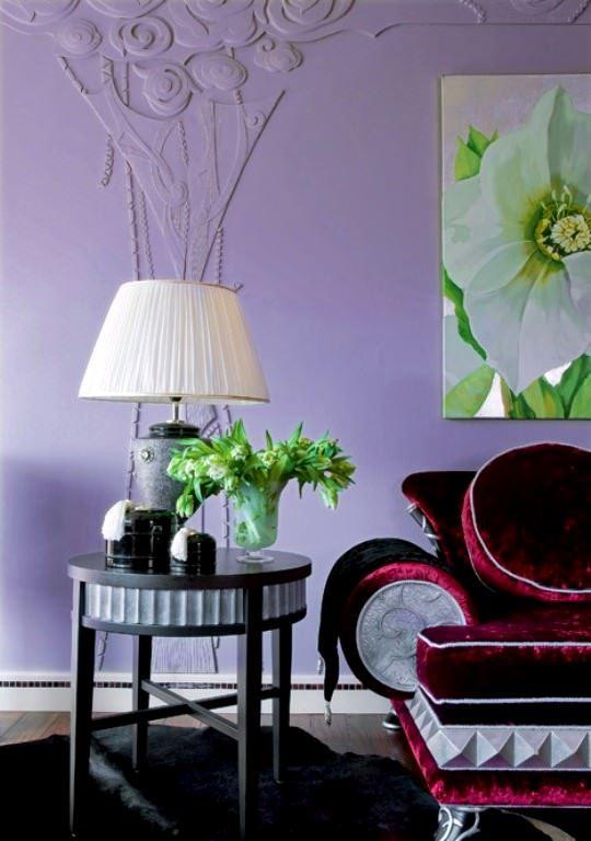 Lila Renk İle Uyumlu Mobilya Renk Fikirleri 2
