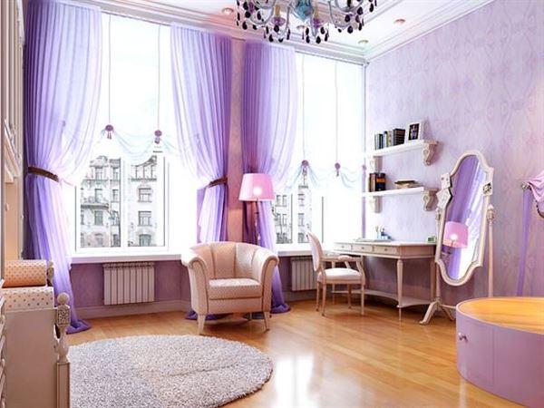 Mor ve Lila Renkli Oda Renk Dekorasyonları 3