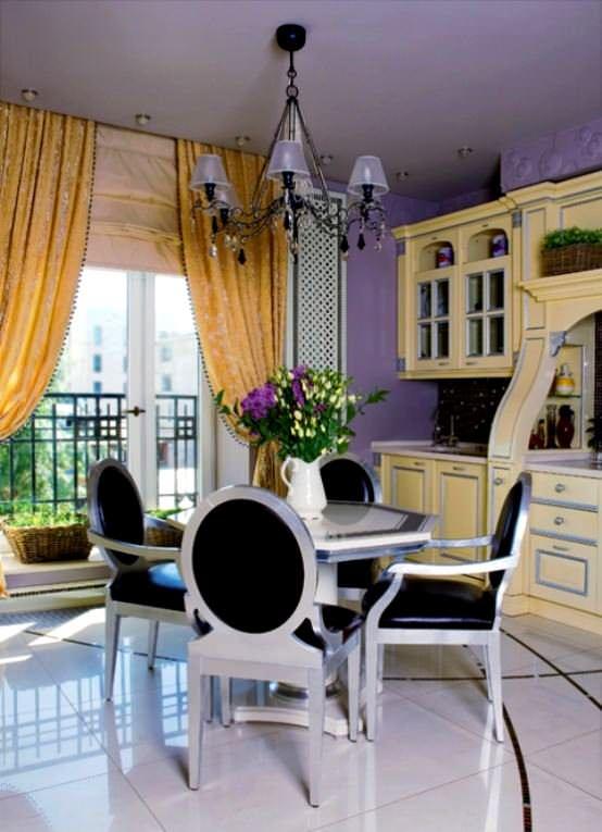 Lila Renk İle Uyumlu Mobilya Renk Fikirleri 7
