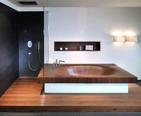 Banyolarınız İçin Ahşap Küvet Tasarımları 4