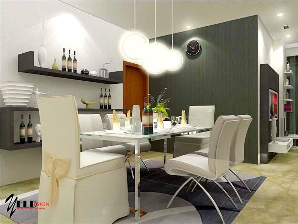 Modern Lüks Yemek Odası Tasarımları 7