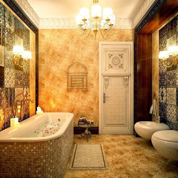 Ultra Lüks Dekorasyonlu Banyo Örnekleri 16