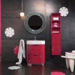 modern lüks dekoratif banyo dolapları - luks kirmizi banyo dolaplari 150x150